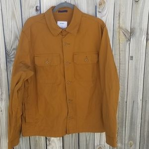 Old Navy Yellow Mustard Fully Buttoned Jacket Sz L